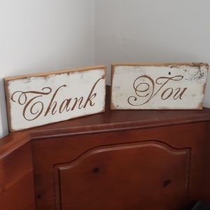 "Barn wood ""thank you"" sign rustic farmhouse"